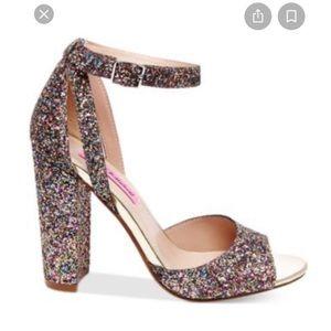 Betsy Johnson glitter heels